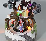 Umart Xmas Snow / Tree House Children Rotating Music Led Light