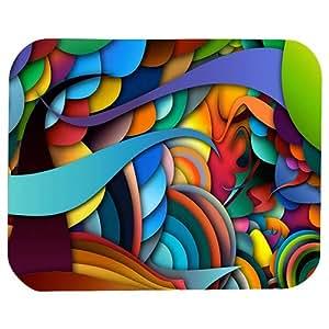 Texture Pattern Print 22 X 18 Cm Mouse Pad For Pc & Laptop, Multi Color