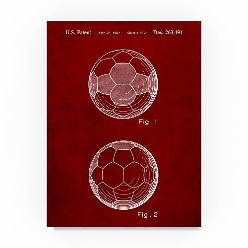 Soccer Ball by Cole Borders, 35x47-Inch Canvas Wall Art by Trademark Fine Art