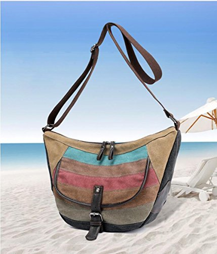 Women's Waterproof Diagonal Shoulder Package Handbag Bag LXYIUN Splicing Canvas PXwAdqPxg