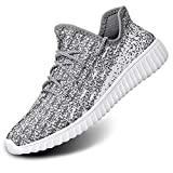alibress women fashion sneakers-gray white comfortable breathable athletic mesh shoes for casual