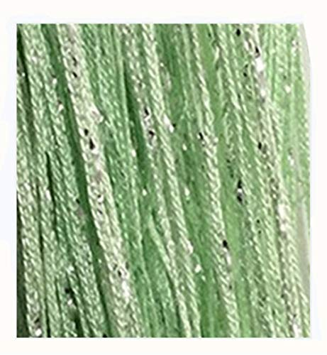 Fringe Panel (Senswalan 100cmX200cm Decorative Door String Curtain Wall Panel Fringe Window Room Divider Blind Divider Tassel Screen (Fruit Green))