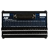 ASI 11008 26 to 12 AWG IMDS50M DIN Rail Mount Interface Module, Cable to Wire Transition, 50 Position Male D-Sub Connector to Screw Clamp Terminal Blocks, 5.59'' Length