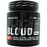 BioTech Black Blood CAF+ Barras y Bebidas Nutritivas, Sabor Cola - 300 gr