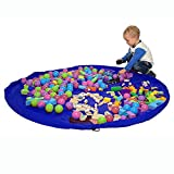 Toy Organizer and Children's Floor Activity Mat and Toys Storage Bag 60inch ...