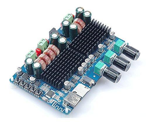 WINGONEER TPA3116 50W2+100W 2.1 Vehicle Bluetooth Receivers Board Dual Channel Power AmplifierChannel Digital Subwoofer Power Amplifier Board DC12V-26V