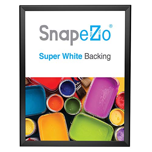 SnapeZo Poster Frame 18x24 Inches, Black 1.25 Inch Aluminum Profile, Front-Loading Snap Frame, Wall Mounting, Professional Series