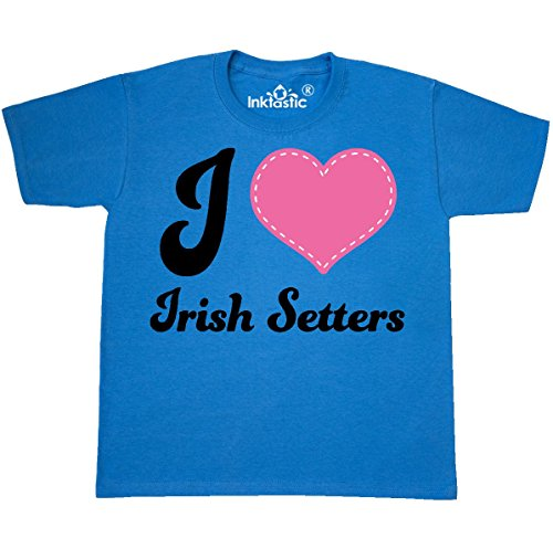 inktastic Love Irish Setters Youth T-Shirt Youth X-Small (2-4) Pacific (Setter Youth T-shirt)