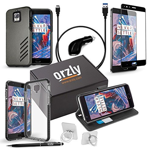 OnePlus3/OnePlus3T 1x Case and Accessory Bundle Pack by Stylus Orzly plus - Includes: 1x Car Charger 1x TypeC Charging Cable 1x Glass Screen Protector 1x Stylus Pen 1x RingStand plus 3 different Phone Cases [並行輸入品] B077C3TTH2, トヨタチョウ:e605ad34 --- kutter.pl