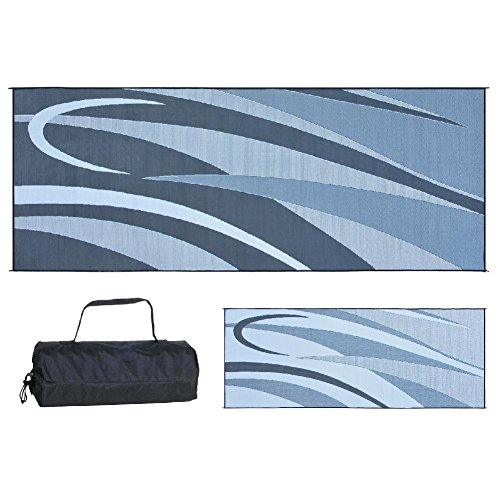 Camp Out Awning - Ming's Mark GC1 Black/Silver 8-Feet x 20-Feet Graphic Mat