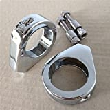 HTT- Motorcycle Fork Clamp Turn signal Clamps for Harley Softail Mount Bracket 39mm Fork Chrome