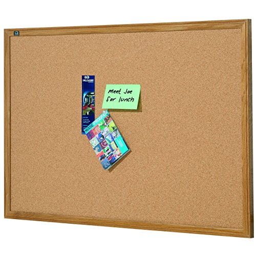 Quartet Oak Finish Frame Cork Bulletin Board, 2' 10'' x 5' (305) by Quartet