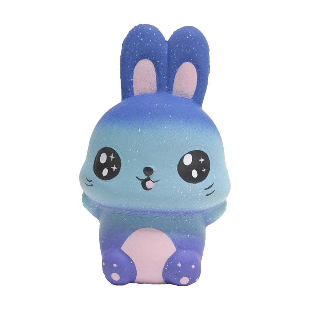 Mochi Squishies Toys,Starry Cute Rabbit Scented Slow Rising Collection Squeeze Stress Reliever Toy (Multicolor)