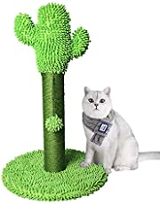 Dolebean Cactus Cat Scratcher | Sisal Covered Cat Scratching Post with 1 Hanging Ball