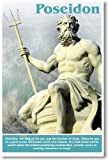 Ancient Greece: Greek Mythology, Lord of the Sea, Brother of Zeus, Poseidon, Classroom Poster