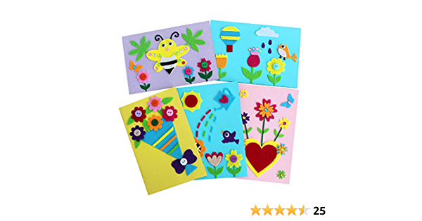 Card Making Kits Diy Handmade Greeting Card Kits For Kids Christmas Card Folded Cards And Matching Envelopes Thank You Card Art Crafts Crafty Set Gifts For Girls Boys Amazon Ca Home Kitchen