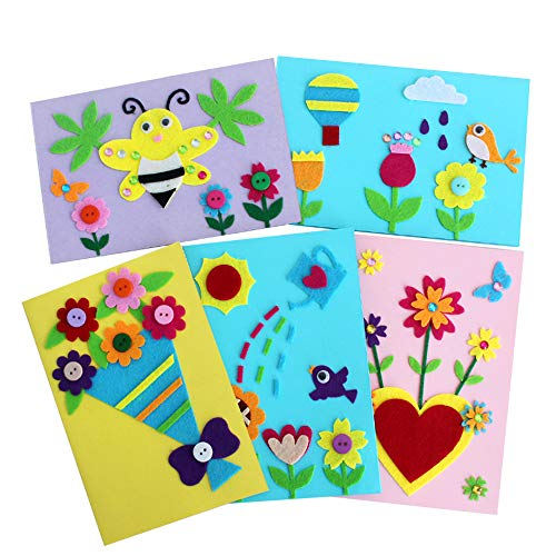 Card Making Kits DIY Handmade Greeting Card Kits for Kids, Christmas Card Folded Cards and Matching Envelopes Thank You Card Art Crafts Crafty Set Gifts for Girls Boys (500 Folded Cards)