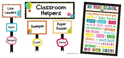 Carson Dellosa School Pop Classroom Management Bulletin Board Set (110329)