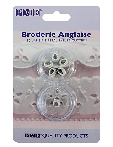 PME 5-Petal Square Eyelet Cutters, (Eyelet Cutter)