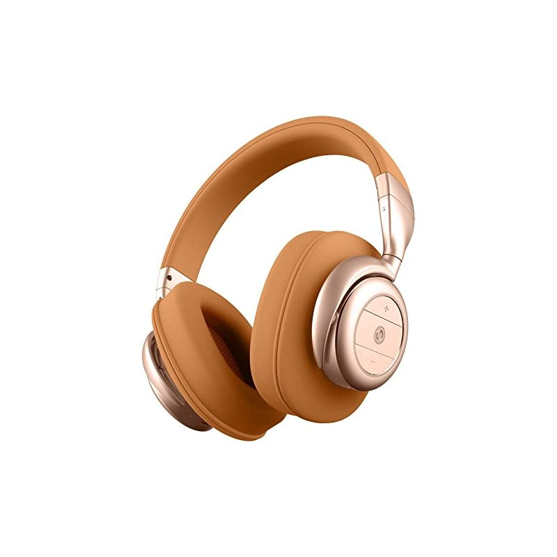 BÖHM Wireless Bluetooth Over Ear Cushioned Headphones Active Noise Cancelling - B76 (Tan)
