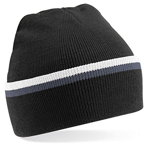 Beechfield - Gorro de punto para invierno estilo Beanie unisex - Black / grey / white