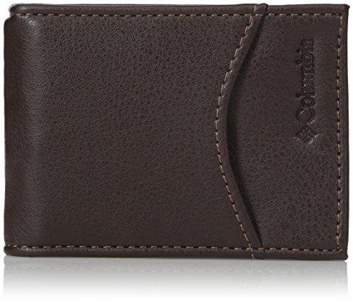 Columbia Men's Merino RFID Blocking Slim Front Pocket Wallet,Brown,One Size