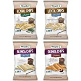 Simply7 Gluten Free Quinoa Chips and Lentil Chips, Variety Pack, 4 Count