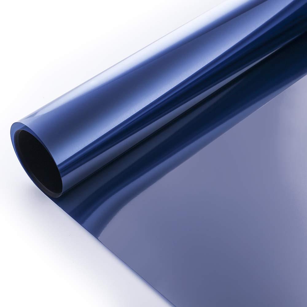 VELIMAX Pel/ícula Solar Adherencia Electroest/ática para Ventana y Coche Bloqueo de UV Aislamiento T/érmico Privacidad Protegido Plateado, 45 x 200cm