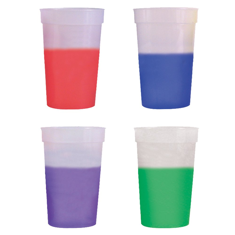 17oz Color Changing Stadium Cup, Set of 12, Frosted Assorted