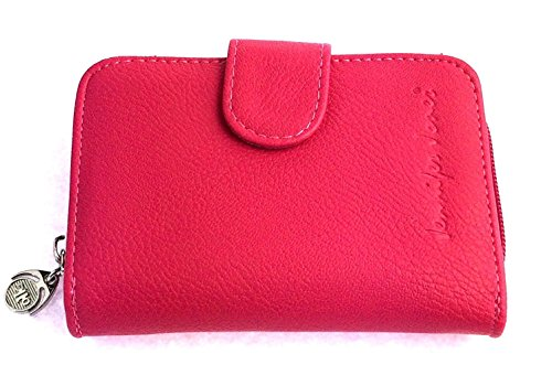 NB24 Versand Modische Damen Geldbörse (1104), PU-Leder, Größe ca. 13 x 10 x 3 cm, pink