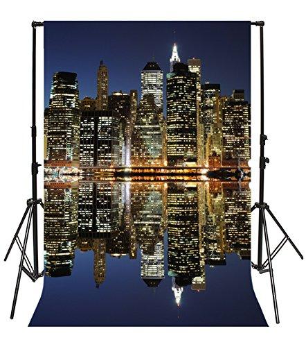 Yeele 6x9フィート ニューヨークファイナンシャルダウンタウン写真背景 ビニール マンハッタン ビジネス ビルディング 超高層ビル モダン シティー ライト 大人 家族 ポートレート 写真 ビデオ 撮影スタジオ 小道具   B07CQPFL1H