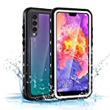 Mishcdea for Huawei P20 Pro Waterproof Case Shockproof Snow-Proof Dirt-Proof Full Body Phone Protector Cover (White)