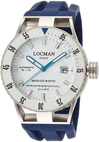 LOCMAN watch Monte Cristo diver automatic winding date 100M Waterproof Men 0513 051300WBWHNKSIB Men's [regular imported goods]