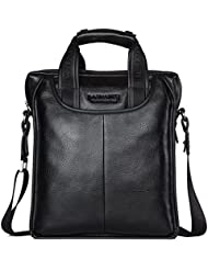 BOSTANTEN Leather Handbag Briefcase Messenger Business Work Bags For Men