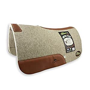 """The Montana 100% Extra Fine Wool Saddle Pad by Southwestern 3/4"""" or 1"""" Thick and Designer Wear Leather"""
