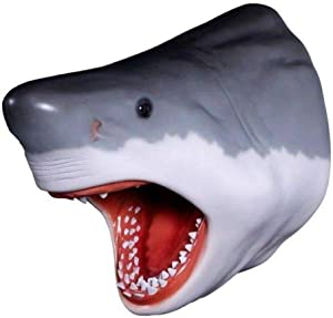 LM Treasures Shark Great White Head # 3 Wall Decor Sea Prop Resin Statue