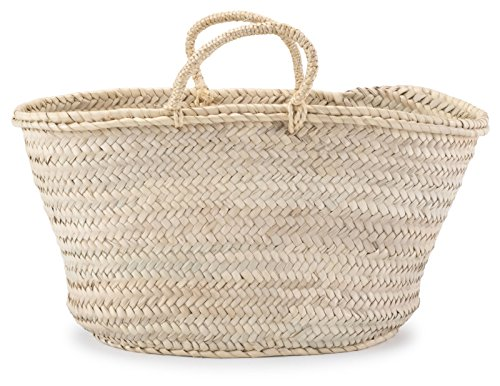 Rope Braided Handles - Moroccan Straw Shopper Bag w/ Braided Rope Handles - 19