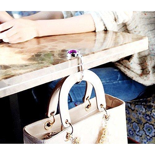 Handtaschen Haken 12 St/ück Handtaschenhalter Taschenhalter Strass Dekor Handtasche Schreibtisch Haken
