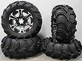 "Bundle - 9 Items: ITP SS312 14"" Wheels Black 27"" Mud Lite..."