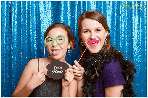 ShinyBeauty Sequin Backdrop-Aqua Blue 10FTx20FT Sequin Photo Backdrop,Photo Booth Background,Sequence Christmas Backdrop Curtain (10FTx20FT, Aqua Blue) by ShinyBeauty (Image #3)
