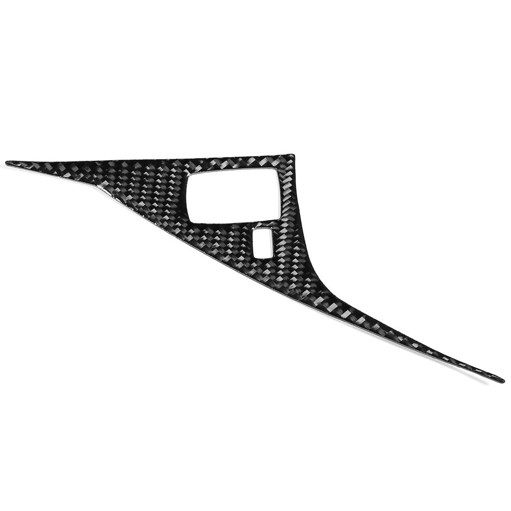 Aramox Drive Panel Cover Trim,Left Hand Driver Side Carbon Fiber Drive Panel Cover Trim Fit for Infiniti Q50//Q60 13-19 Left Hand Driver Side
