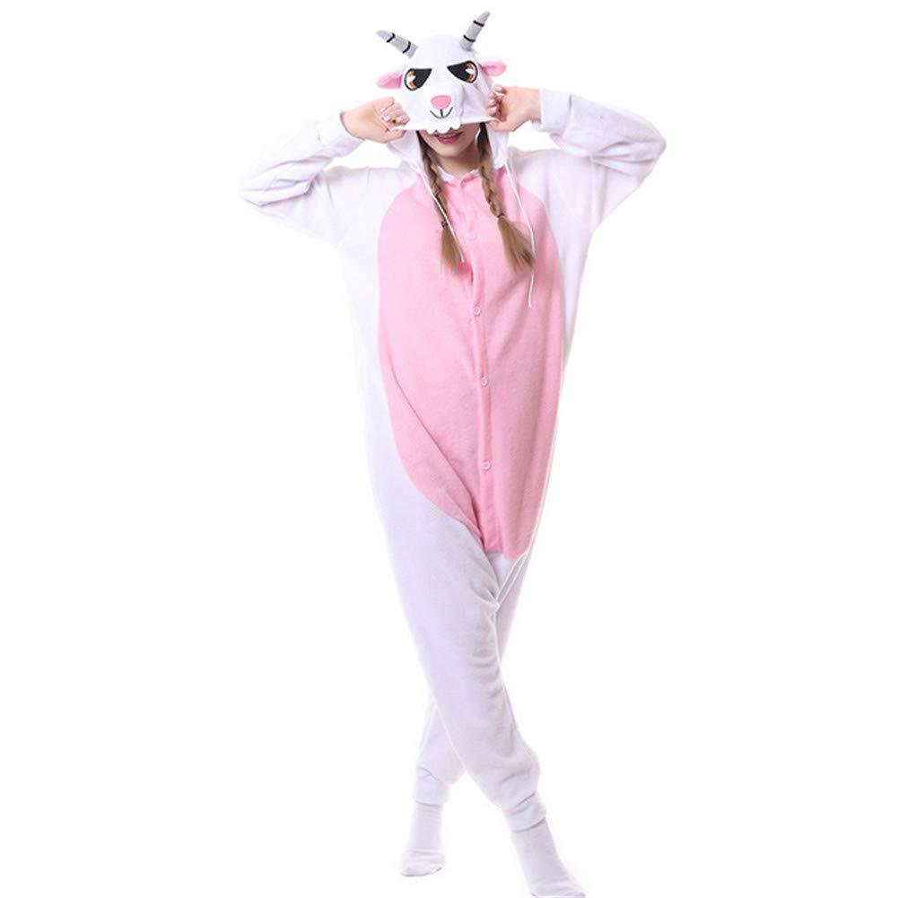 Capra Kigurumi Pigiama Unisex per Adulti Bambini Animale Cosplay