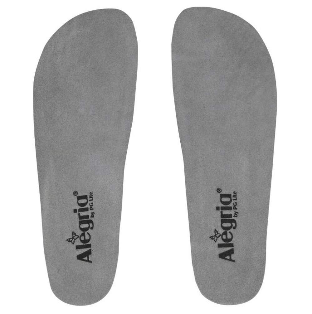 Alegria by PG Lite Women's Wide Classic Removable Footbed,Alegria Grey,EU 34