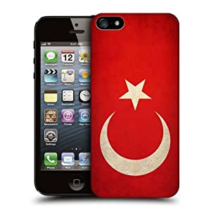 TopFshion Designs Turkey Turkish Vintage Flags Protective Snap-on Hard Back Case Cover for Apple iPhone 5 5s