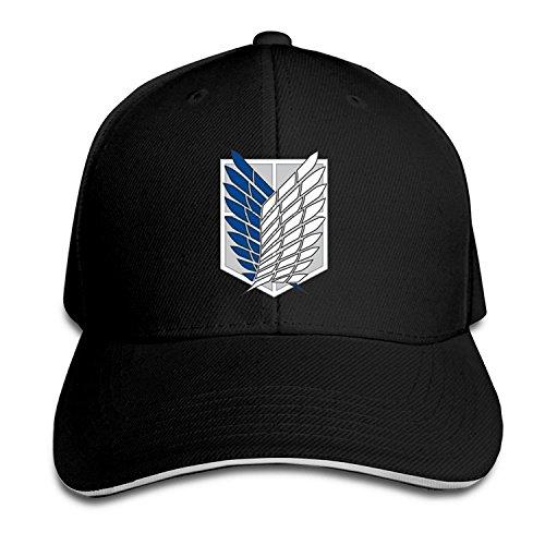 BestSeller Attack On Titan Survey Corps Adjustable Sandwich Peaked Baseball Caps Hats For Unisex