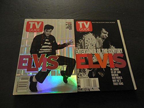 2 TV Guide Elvis Presley Covers Jan 1-7 2000 Jan 13-19 2001