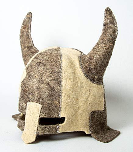 Rushnichok Sauna hat Viking - Sauna hat for Men - Sauna hat Wool - Sauna hat Russian banya - Russian banya hat - Finnish Ukraine Viking Helmet Ukrainian Warrior Berserk cosplayers Sauna Accessories
