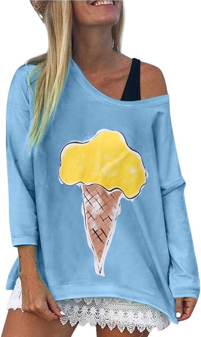 Teresamoon Women Casual Short Sleeve Shirts Print Loose Crew Neck Pullover Sweatshirt Tops Blouse