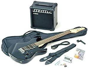 yamaha erg121 gigmaker electric guitar amp basic pack black gloss musical. Black Bedroom Furniture Sets. Home Design Ideas