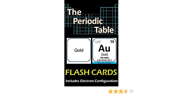 The periodic table flash cards illustrated double sided includes the periodic table flash cards illustrated double sided includes electron configuration lionshare media amazon urtaz Images